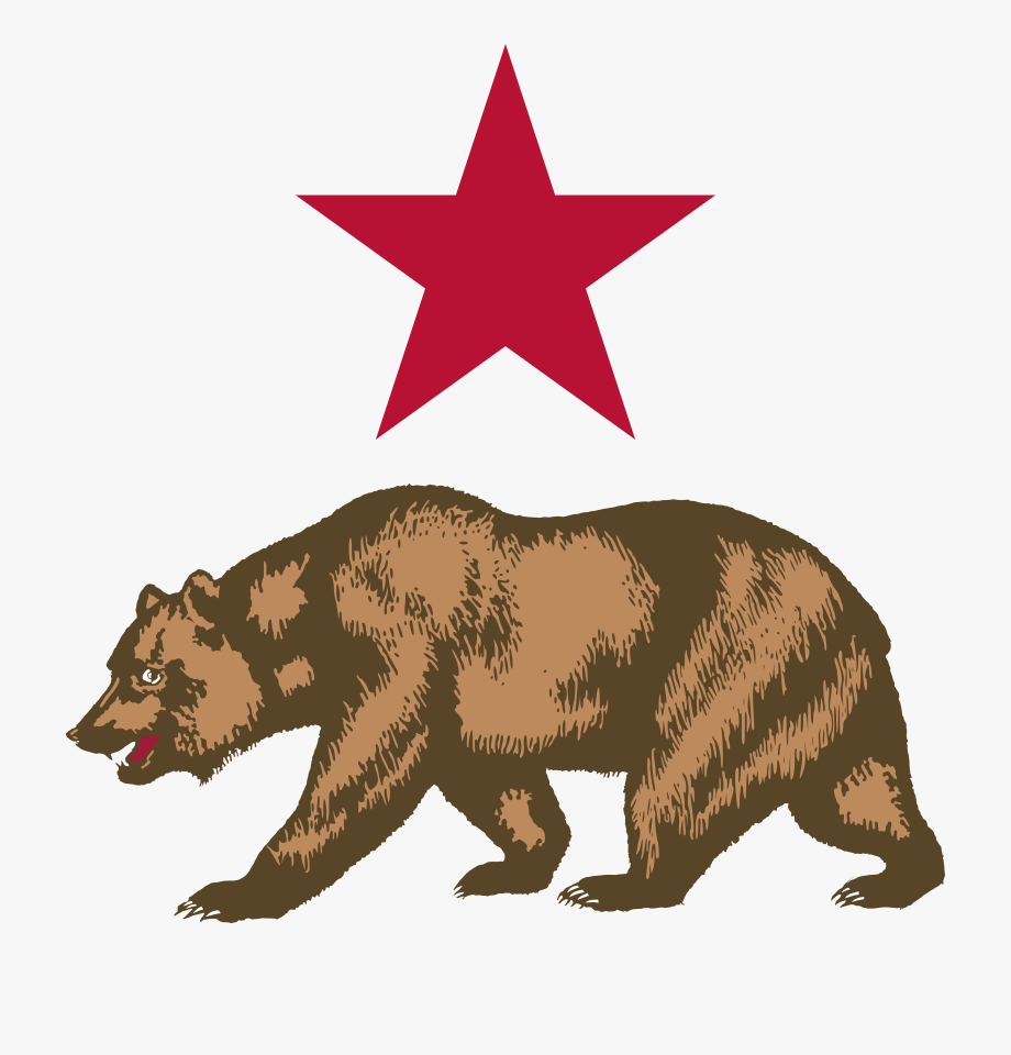 Star and california free. Bear clipart symbol