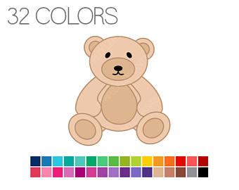 Bear clipart teddy bear. Clip art digital instant