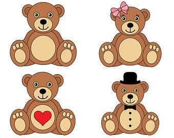 Bear clipart teddy bear. Etsy