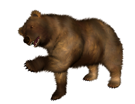 Bear clipart transparent background. Five isolated stock photo