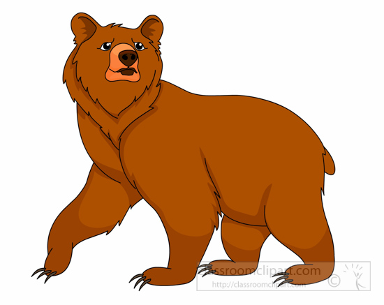 Animal brown grizzly browngrizzlybearclipartjpg. Clipart bear
