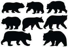 Bear clipart vector. Grizzly silhouette clip art