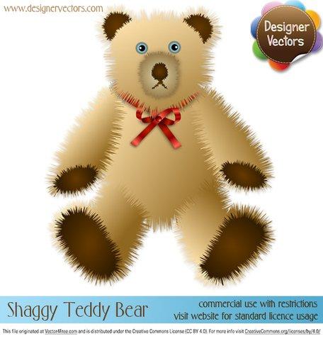 Bear clipart vector. Free shaggy teddy and