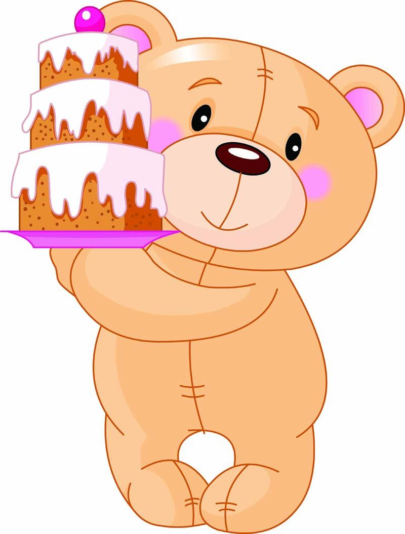 Bear clipart vector. Free animated teddy collection