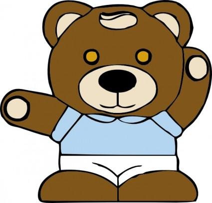 Bear clipart vector. Cute teddy clip art