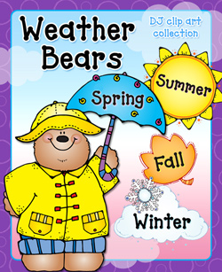 Clip art mini borders. Bear clipart weather