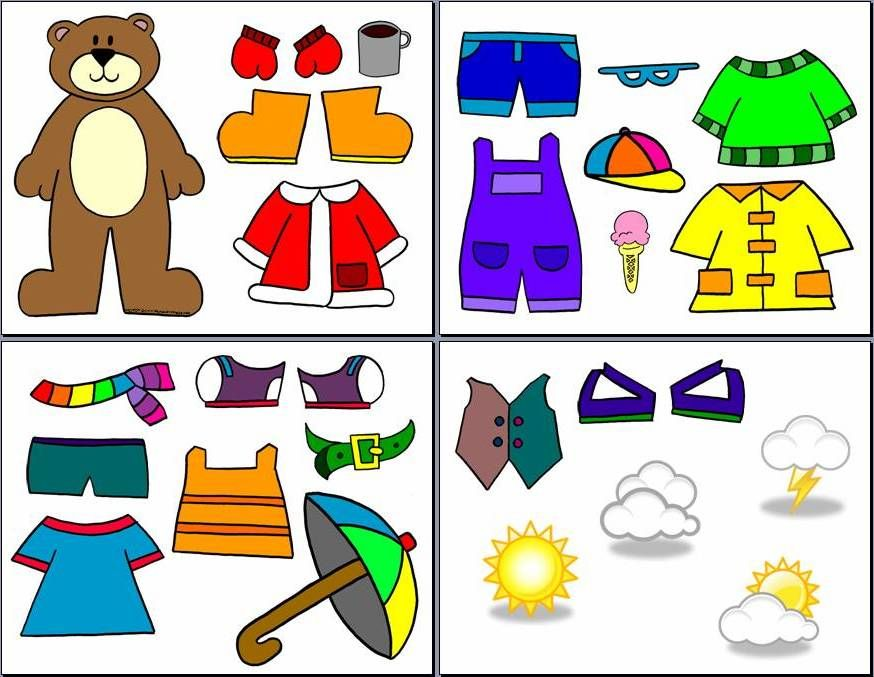 Bear clipart weather. For the kids seasons