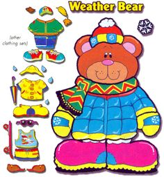 Bear clipart weather. Or dress up with