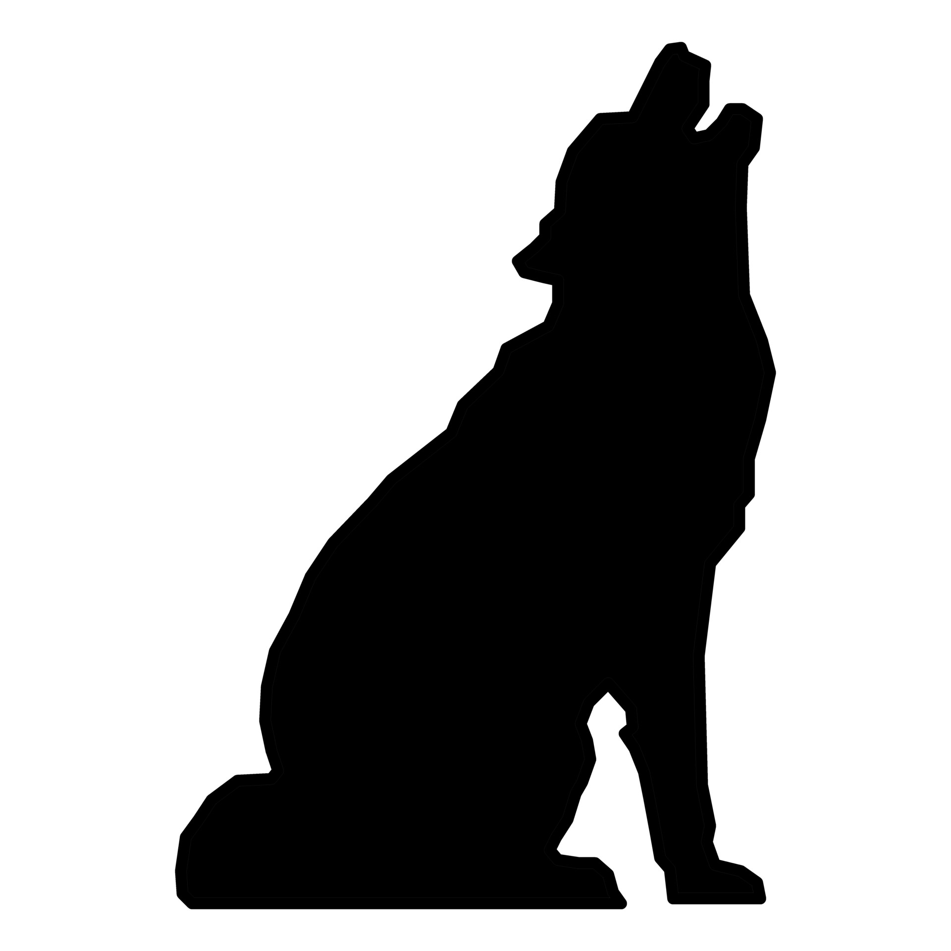 Bear clipart wolf. Silhouette at getdrawings com