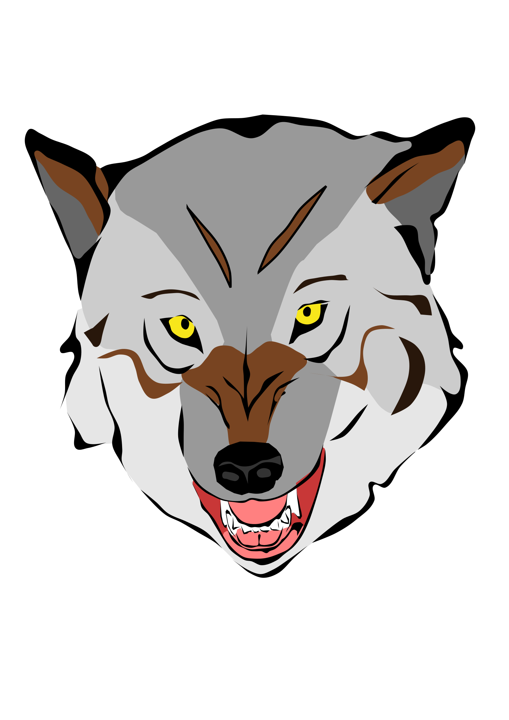 Wolf clipart bear. Big image png