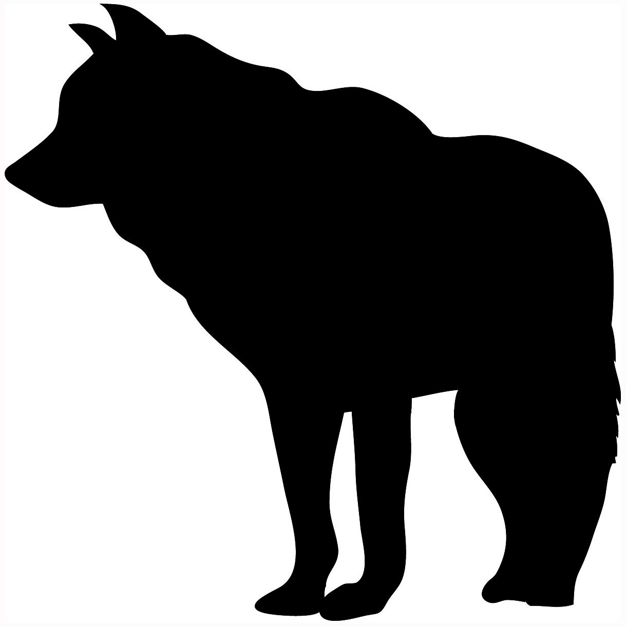 Silhouette silhouettes pinterest and. Bear clipart wolf