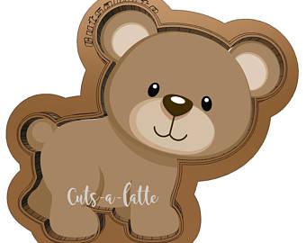 Bear clipart woodland. Etsy cookie cutter d