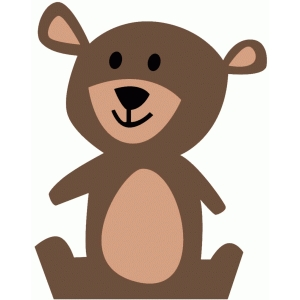 Bear clipart woodland. Silhouette design store view