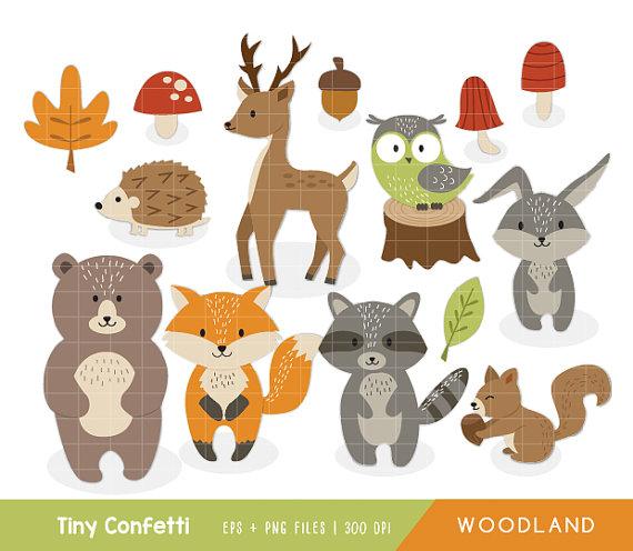 Animals forest . Bear clipart woodland