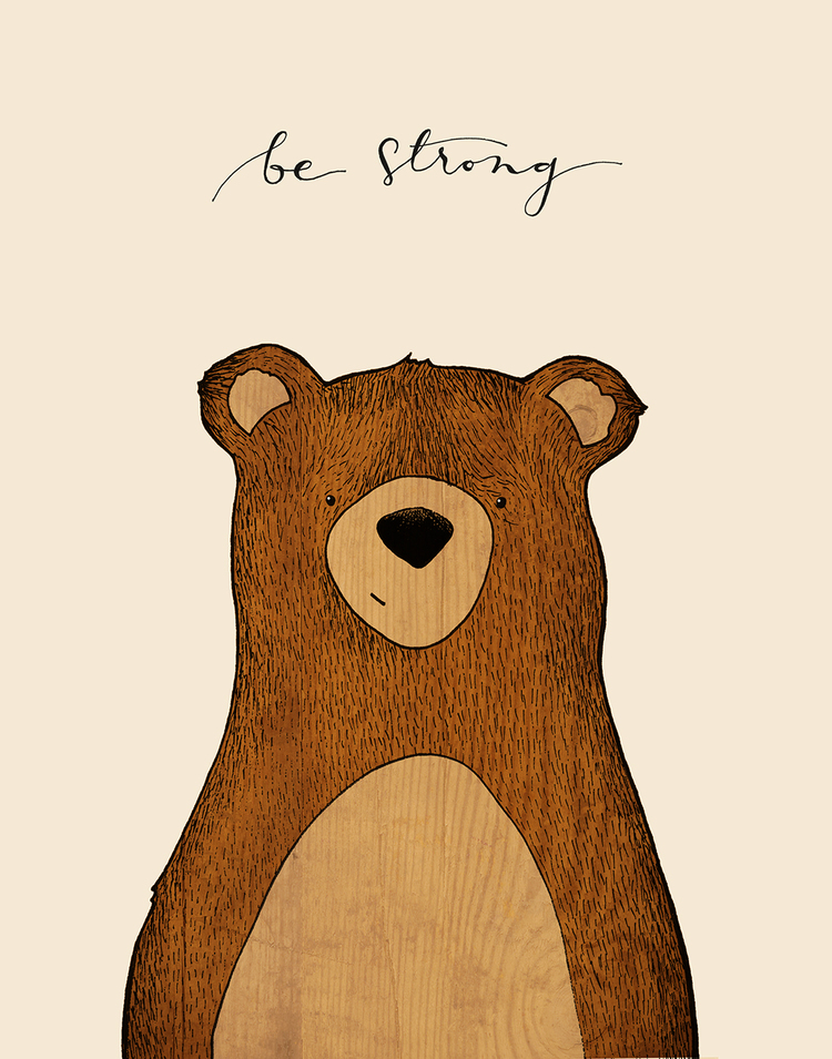 Animals be strong red. Bear clipart woodland