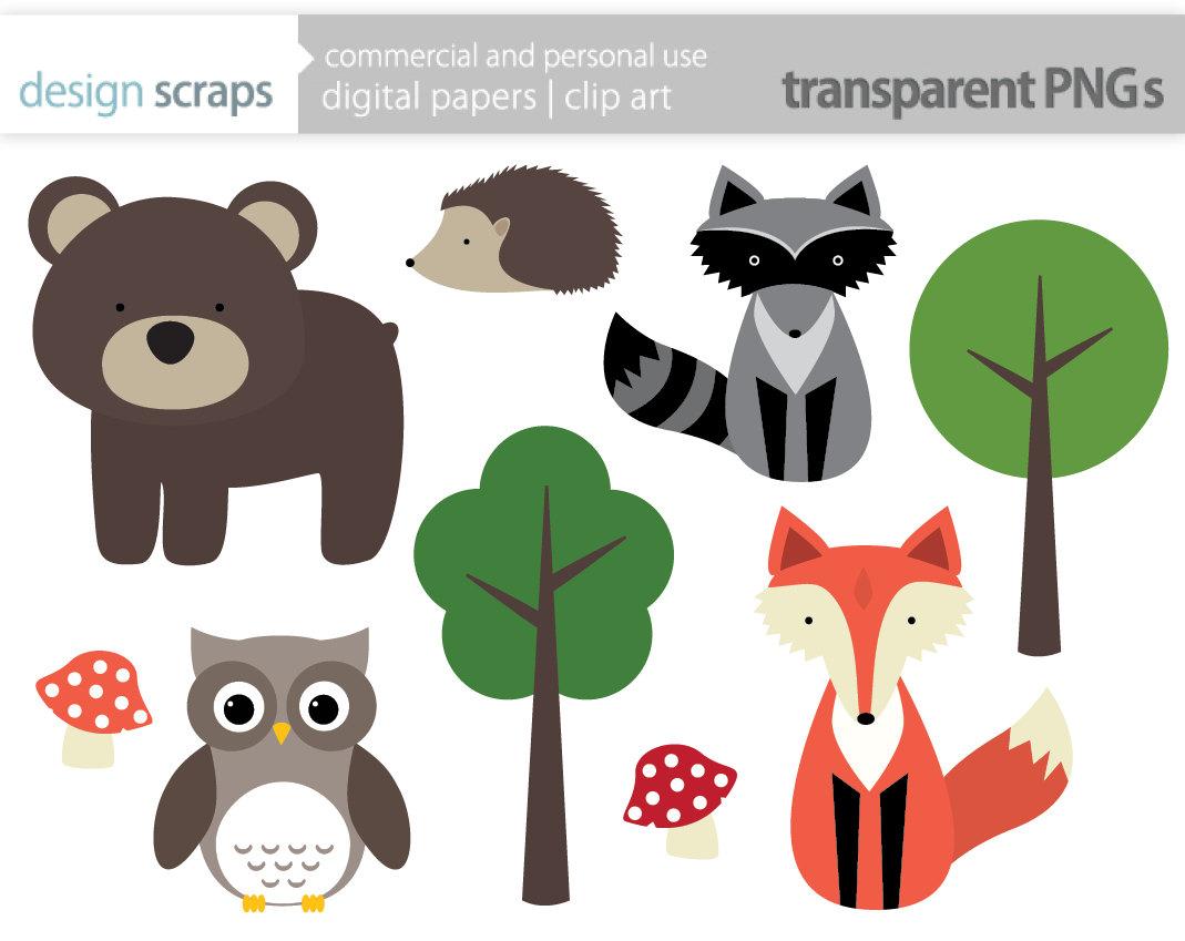 Bear clipart woodland.