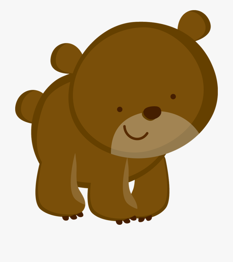 Woodland clipart bear. Animals theme jungle forest