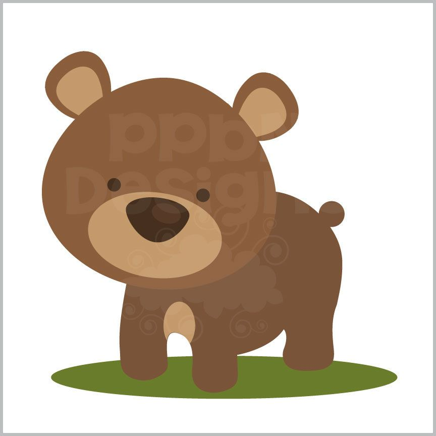 Woodland clipart bear. Ppbn designs free for