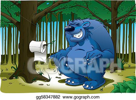 Vector do bears s. Bear clipart woods