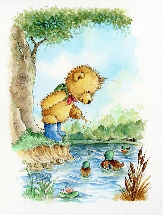 Bear clipart woods. Teddy maria bears pinterest