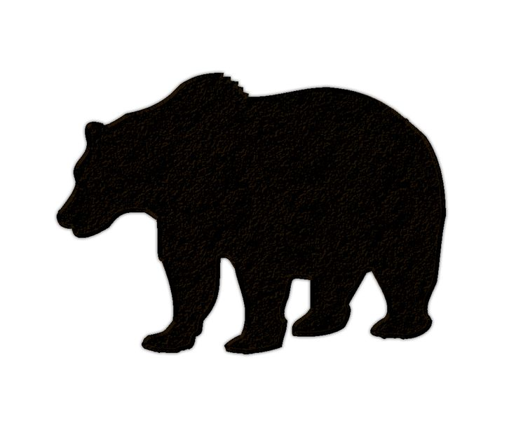 Black silhouette at getdrawings. Bear clipart woods