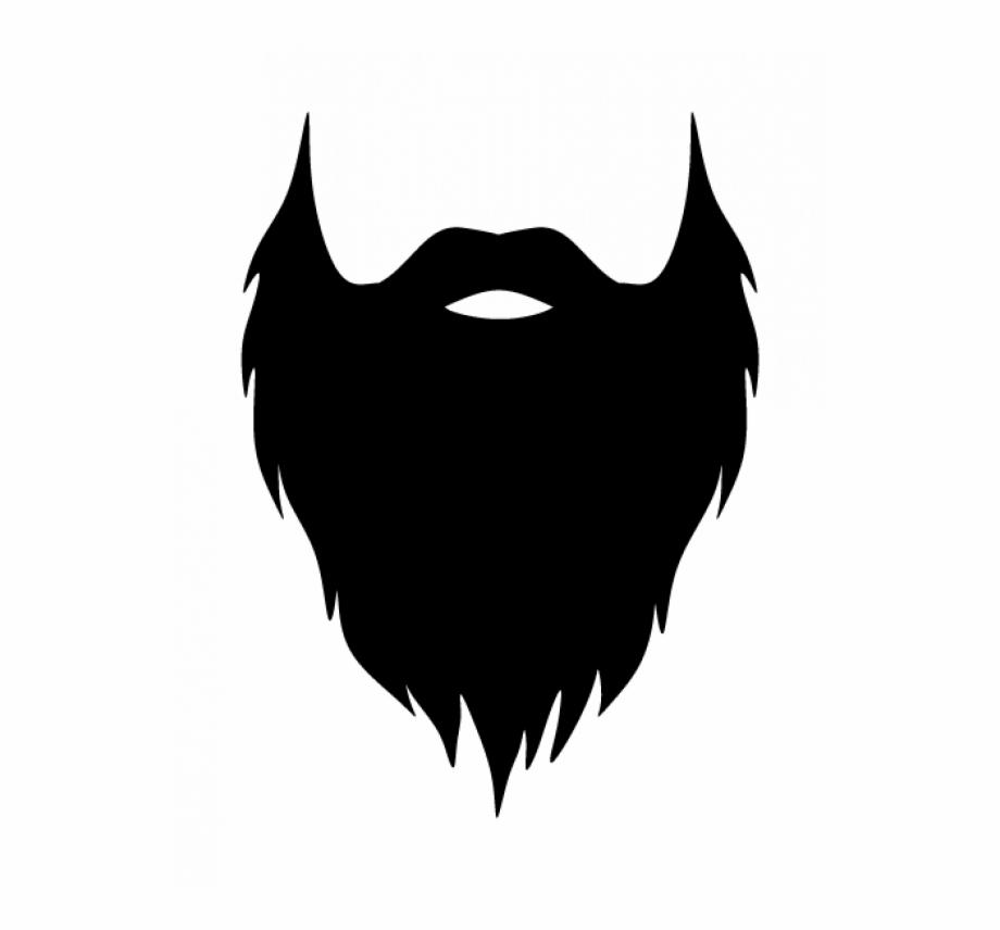 Black png transparent images. Beard clipart