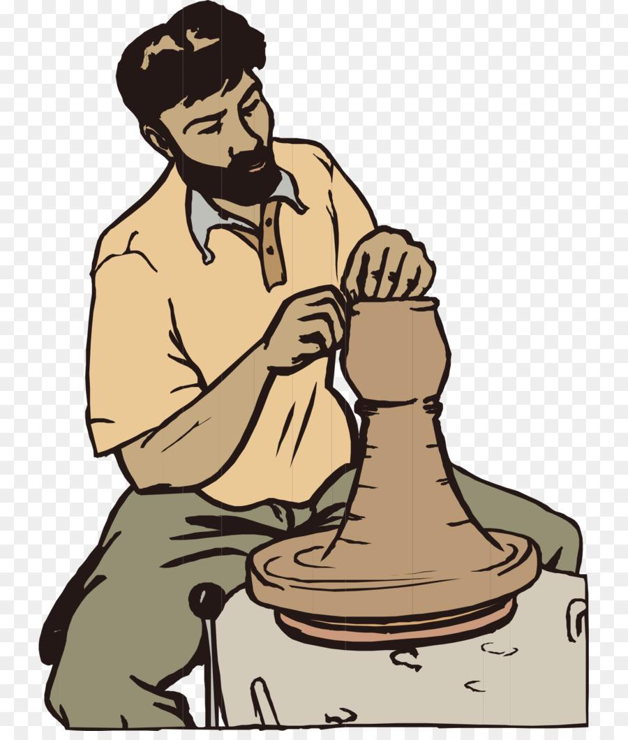 Beard clipart animation. Pottery clip art cartoon