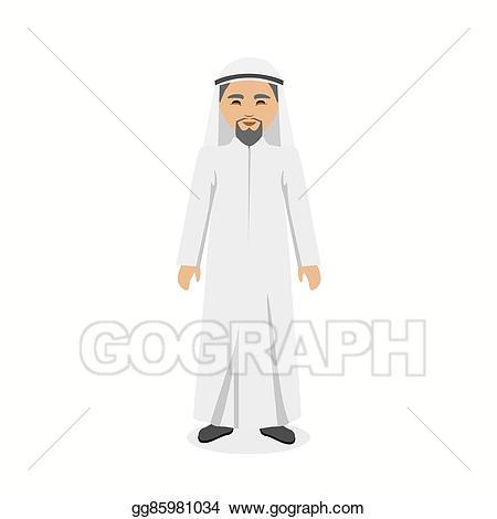 Vector stock saudi arabia. Beard clipart arabic