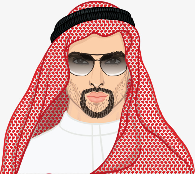 Beard clipart arabic. Arab men the man