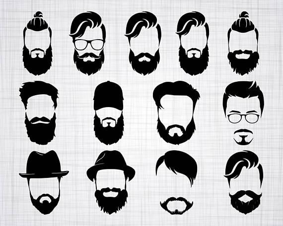 Beard clipart beard face. Man svg bundle cut
