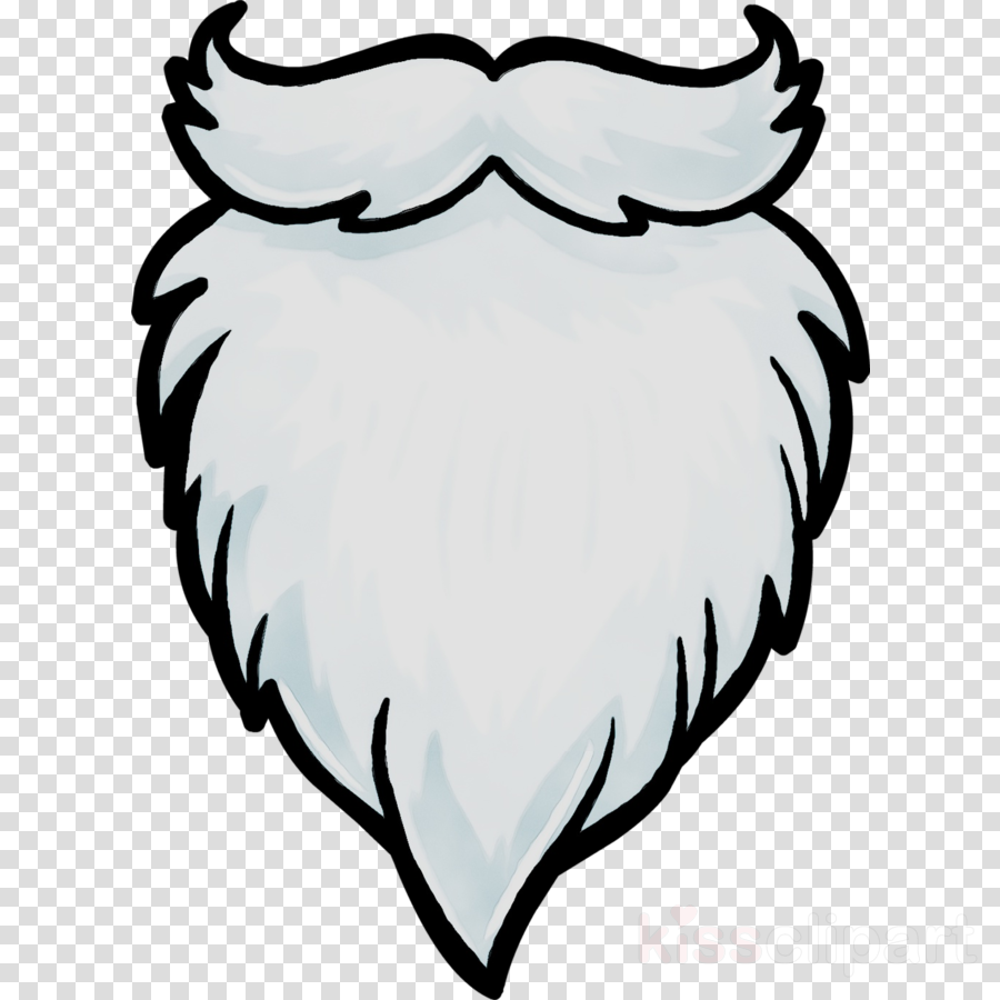 Santa claus cartoon white. Beard clipart beard face