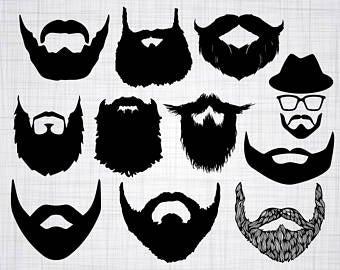 Beard clipart beard face. Etsy