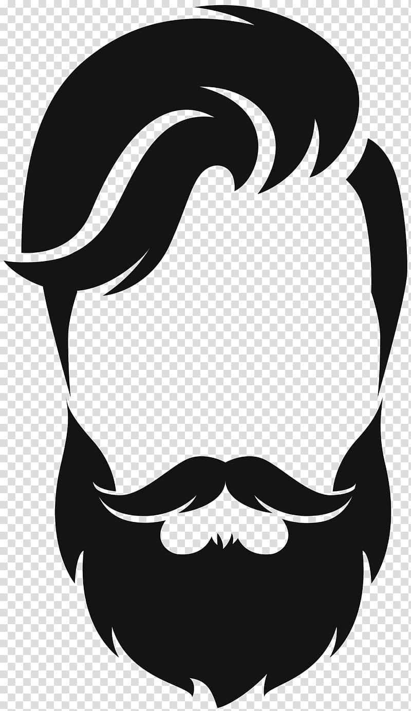 Beard clipart beard face. Silhouette moustache hair style