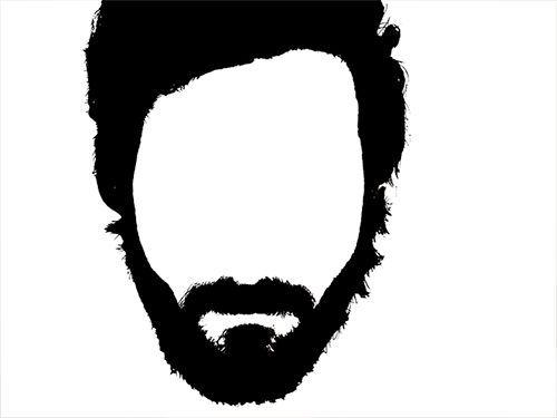 Too realistic komik resimler. Beard clipart beard outline