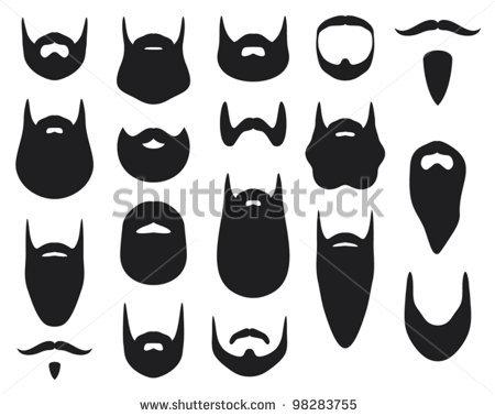 . Beard clipart beard outline