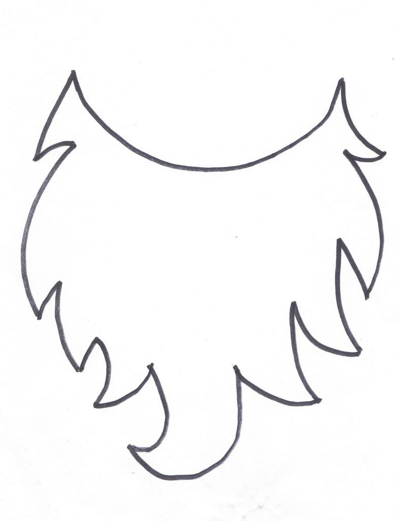 Beard clipart beard outline. Printable santa elf or