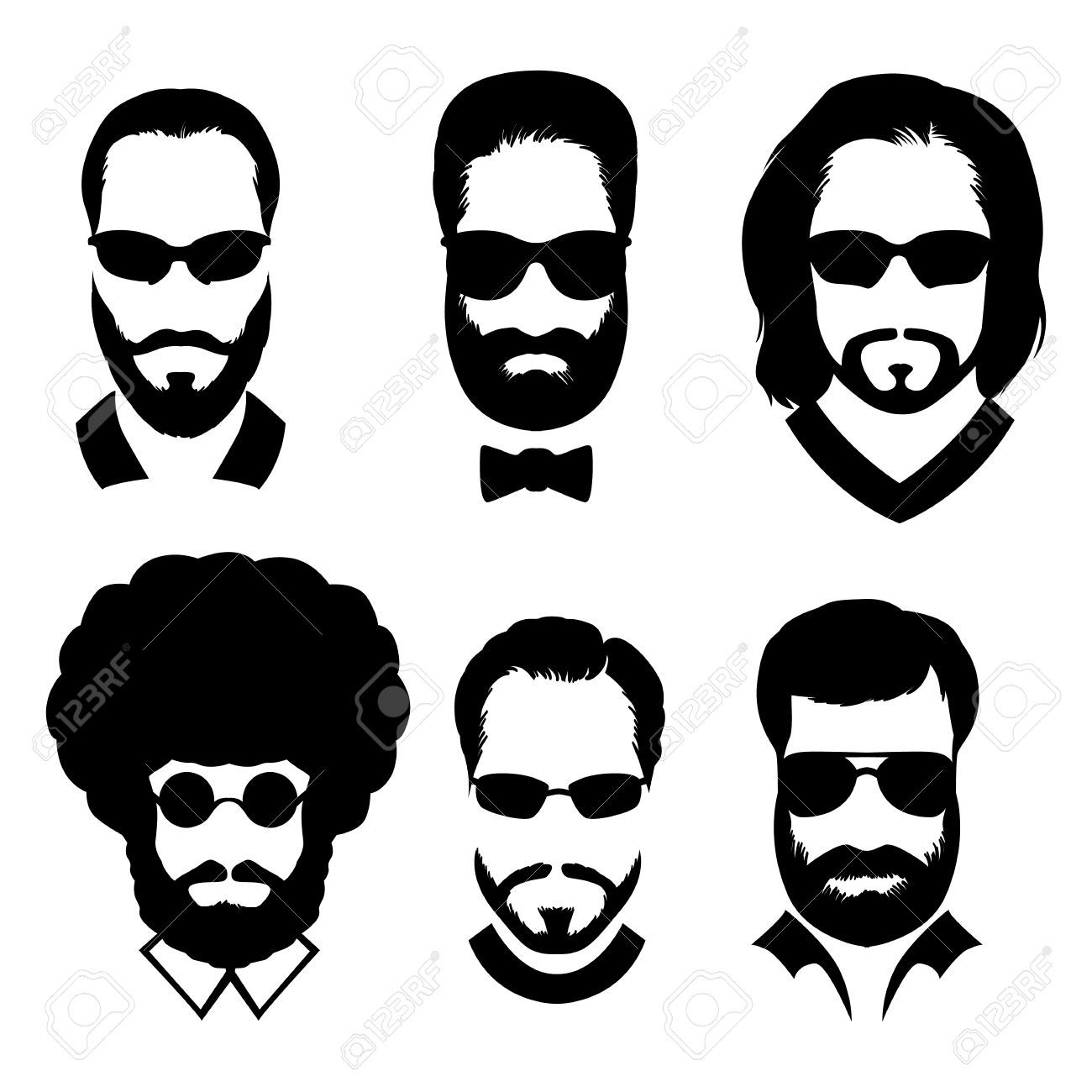 Image result for with. Clipart mustache man hair