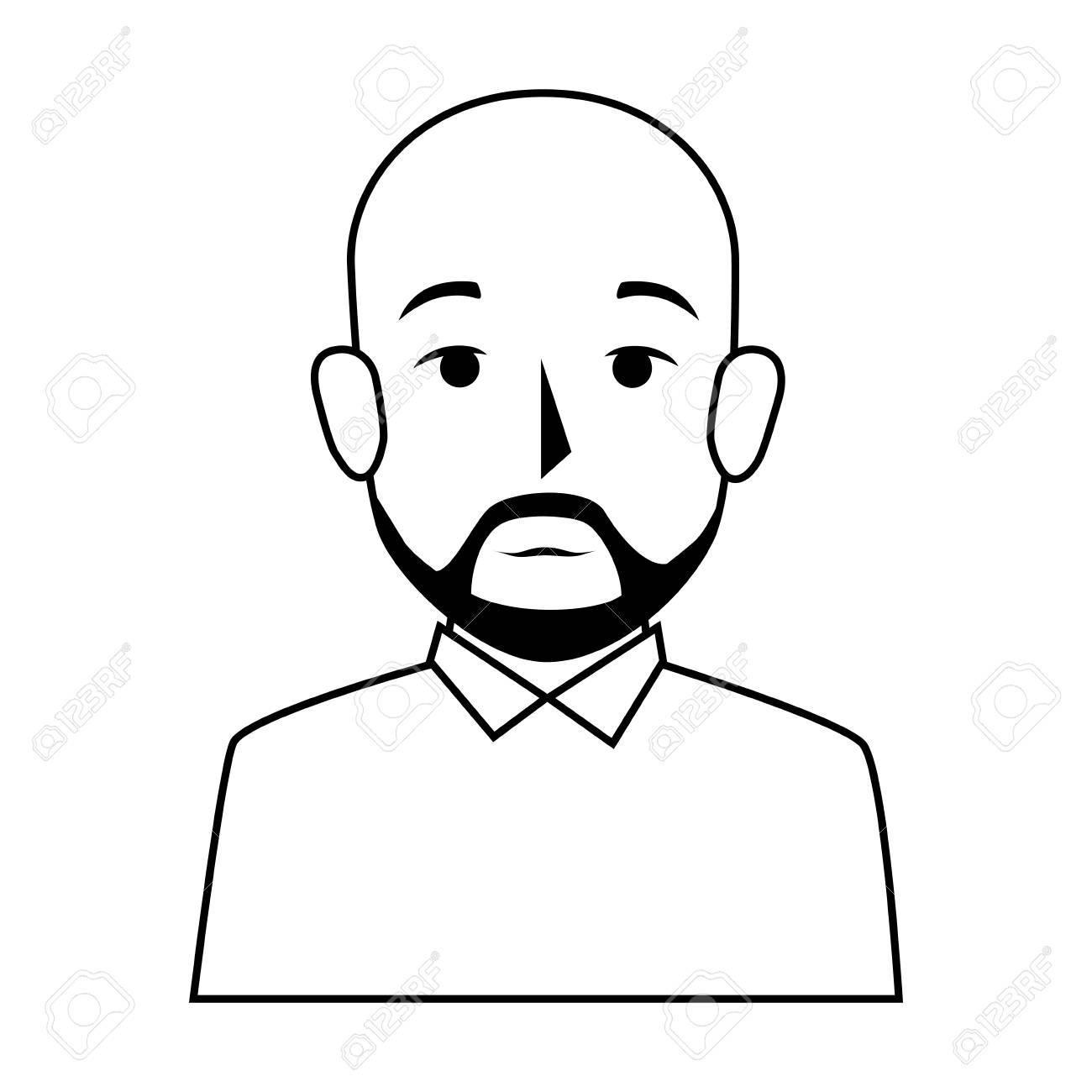 Silhouette at getdrawings com. Beard clipart bearded man
