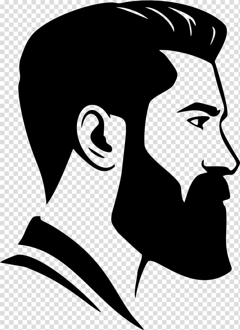 Man illustration transparent . Beard clipart beared
