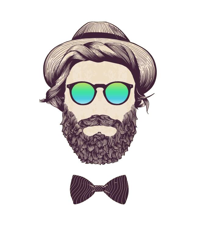 Beard clipart beared. Download bearded illustration royalty