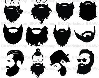 Svg etsy long digital. Beard clipart big beard