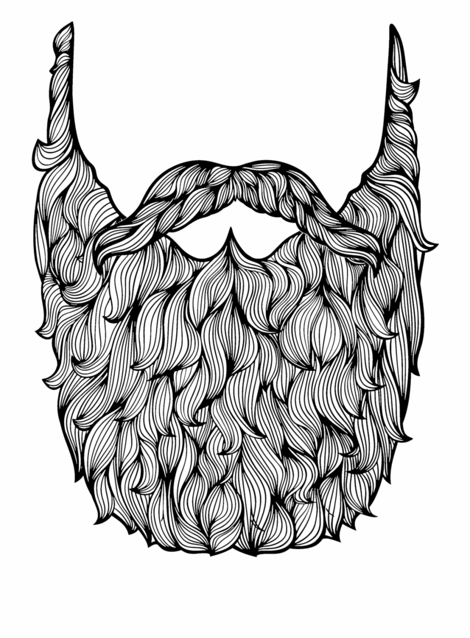 Beard clipart big beard. Goatee drawing simple data