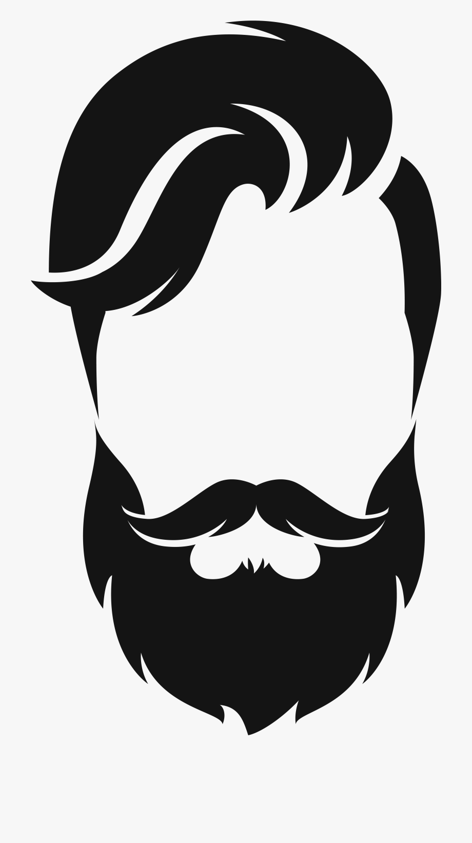 Wizard transparent hair png. Beard clipart black and white