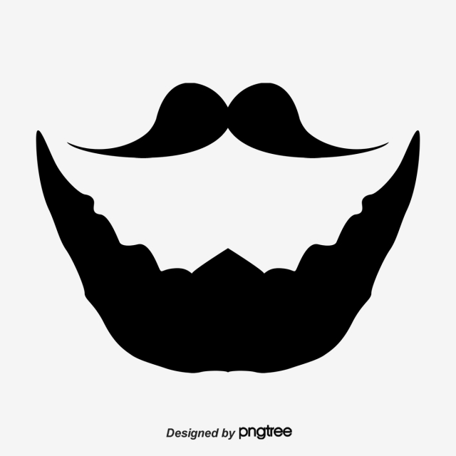 Adult moustache pictures png. Beard clipart black and white