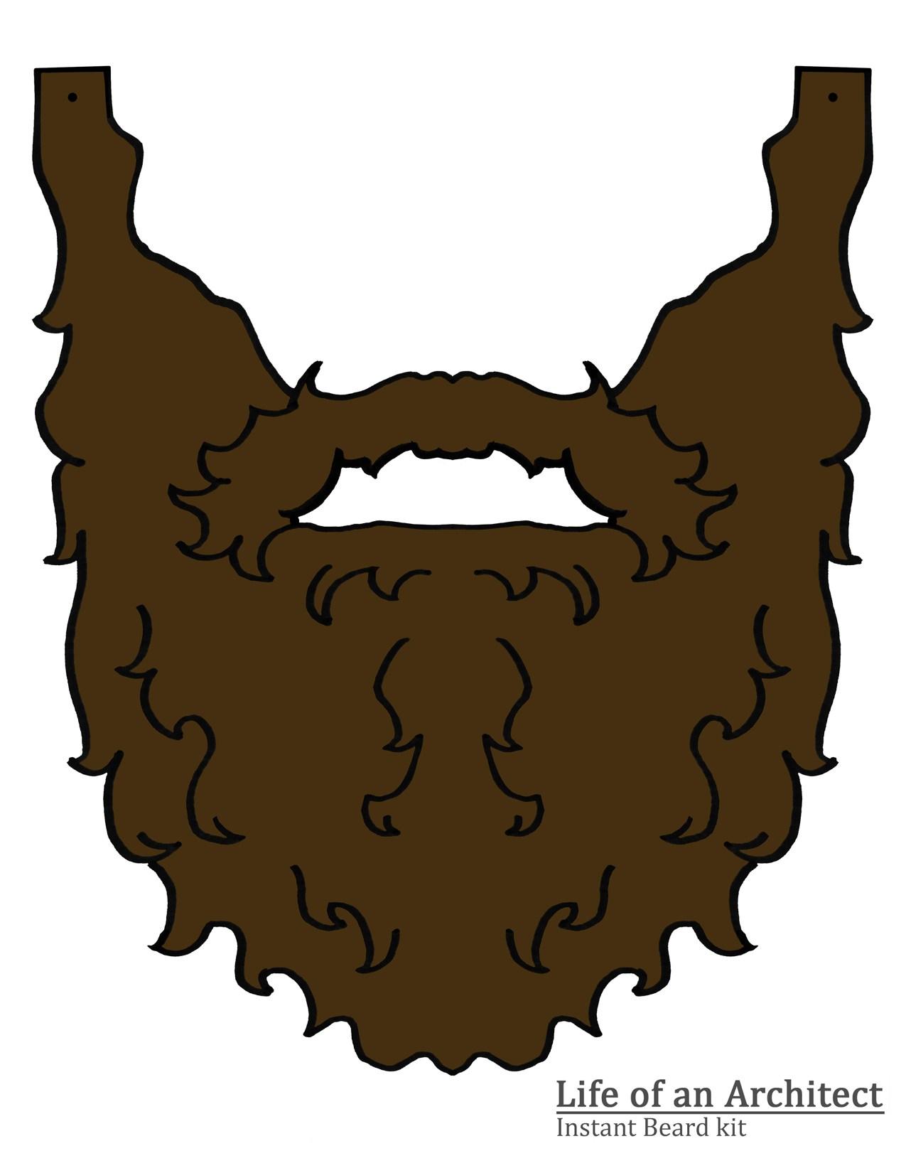 Beards of an architect. Beard clipart brown beard