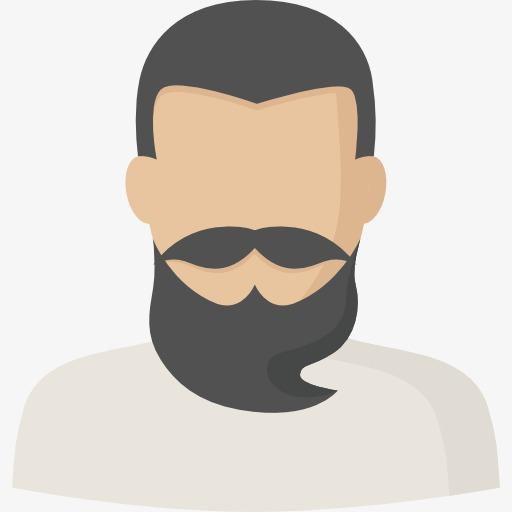 Beard clipart cartoon. Bearded man uncle png