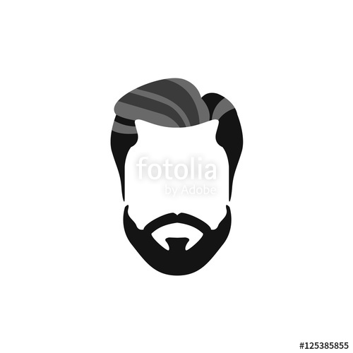 Hipster male hair and. Beard clipart clip art