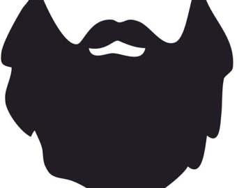 Beard clipart clip art. Mustache silhouette at getdrawings