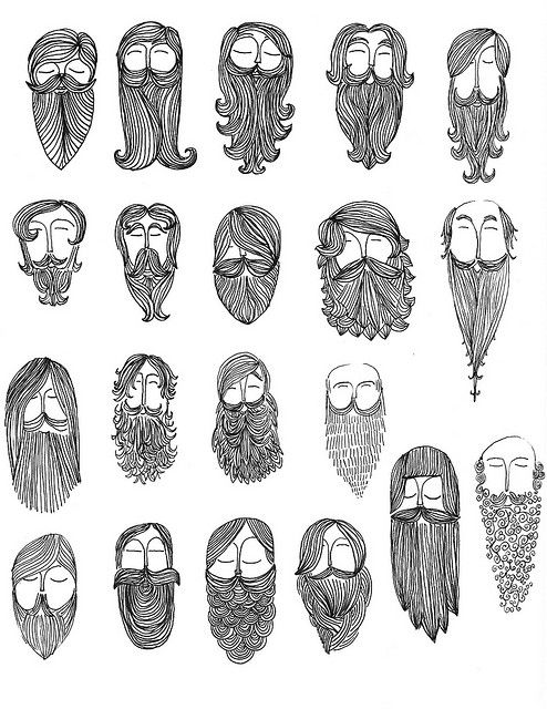 Learning about beards in. Beard clipart doodle
