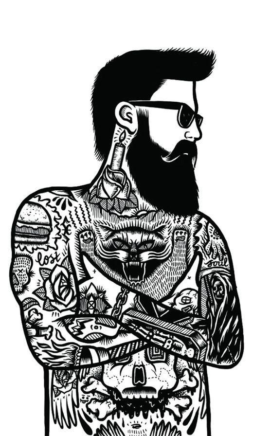 Beard clipart doodle.  best hair and